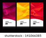 abstract background set eps10 | Shutterstock .eps vector #141066385