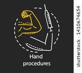 hand procedures chalk icon.... | Shutterstock .eps vector #1410674654