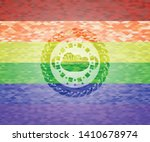 salad icon on mosaic background ... | Shutterstock .eps vector #1410678974