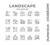 set line outline icons of... | Shutterstock .eps vector #1410681044