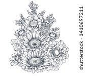 floral composition. bouquet... | Shutterstock .eps vector #1410697211