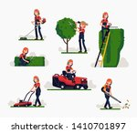 flat vector illustration set on ... | Shutterstock .eps vector #1410701897