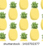 seamless pattern with ananas...   Shutterstock .eps vector #1410702377