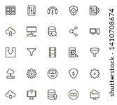 web hosting line icon set.... | Shutterstock .eps vector #1410708674