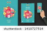 happy chinese new year 2020.... | Shutterstock .eps vector #1410727514