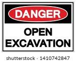 danger open excavation symbol... | Shutterstock .eps vector #1410742847