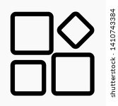 settings vector icon  isolated... | Shutterstock .eps vector #1410743384