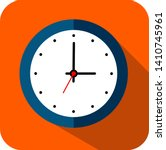 circle clock  flat style  timer ... | Shutterstock .eps vector #1410745961