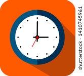 circle clock  flat style  timer ... | Shutterstock .eps vector #1410745961