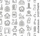 cat shop seamless pattern with... | Shutterstock .eps vector #1410754694