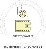 bitcoin drop into wallet  ... | Shutterstock .eps vector #1410764591