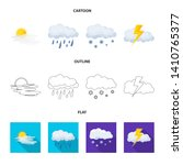 isolated object of weather and... | Shutterstock . vector #1410765377