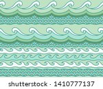 exotic waves pattern. vector... | Shutterstock .eps vector #1410777137