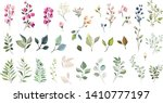 set of floral elements. flower... | Shutterstock .eps vector #1410777197