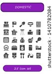 domestic icon set. 25 filled... | Shutterstock .eps vector #1410782084