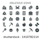 delicious icon set. 30 filled... | Shutterstock .eps vector #1410782114