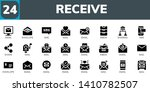 receive icon set. 24 filled... | Shutterstock .eps vector #1410782507