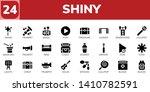 shiny icon set. 24 filled shiny ...   Shutterstock .eps vector #1410782591
