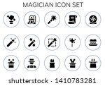 magician icon set. 15 filled... | Shutterstock .eps vector #1410783281
