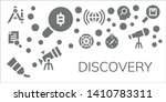 discovery icon set. 11 filled... | Shutterstock .eps vector #1410783311