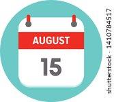 august 15.flat daily calendar...