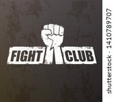 fight club vector logo with... | Shutterstock .eps vector #1410789707