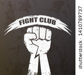 fight club vector logo with... | Shutterstock .eps vector #1410789737