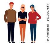group of friends avatar cartoon ... | Shutterstock .eps vector #1410807554