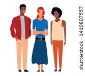 group of friends avatar cartoon ... | Shutterstock .eps vector #1410807557