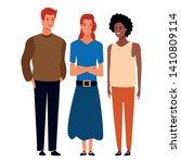 group of friends avatar cartoon ... | Shutterstock .eps vector #1410809114