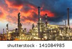 oil refinery at twilight | Shutterstock . vector #141084985