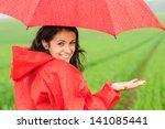 lively teenager girl in the... | Shutterstock . vector #141085441