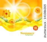summer time vector background... | Shutterstock .eps vector #141086305