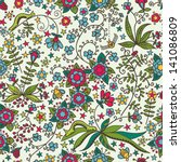 cute seamless pattern with... | Shutterstock .eps vector #141086809