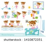 a set of girl related to... | Shutterstock .eps vector #1410872351