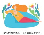vector hygge illustration with... | Shutterstock .eps vector #1410875444