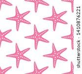 starfish seamless pattern.... | Shutterstock .eps vector #1410876221