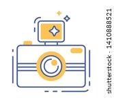 photo camera line color icon....