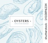 seafood banner set. hand drawn...   Shutterstock .eps vector #1410896234