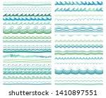 border  frame  brush line set.... | Shutterstock .eps vector #1410897551