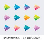 arrow point triangles with... | Shutterstock .eps vector #1410906524