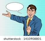 this person looks confident in... | Shutterstock .eps vector #1410908801