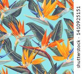 seamless pattern with tropical... | Shutterstock .eps vector #1410925151