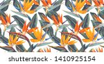 seamless pattern with tropical...   Shutterstock .eps vector #1410925154
