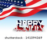 4th of july american... | Shutterstock .eps vector #141094369
