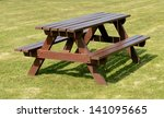 A Park Picnic Table Isolated O...