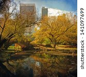 central park pond. new york ... | Shutterstock . vector #141097699