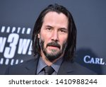 Small photo of LOS ANGELES - MAY 15: Keanu Reeves arrives for the John Wick: Chapter 3 - Parabellum' L.A. Special Screening on May 15, 2019 in Hollywood, CA