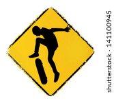 skateboard warning sign | Shutterstock .eps vector #141100945