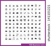 100 business icons set. vector... | Shutterstock .eps vector #141101221